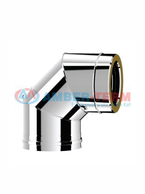 Cot Izolat 90° izolat d.150/200 inox 304 - Coș pentru cazan combustibil solid  /  AMBER-TERM