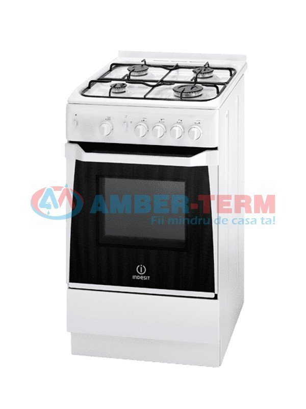 Aragaz INDESIT KN1G20(W)/UA /F074136 - Aragaz cu cuptor incorporat  /  AMBER-TERM